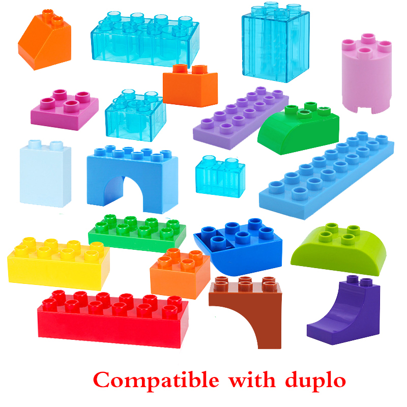 Blocks New Fashion Diy Various Large Particles Building Blocks Swing Dinosaurs Figures Animal Accessories Compatible Legoingly Duploed Toy For Kids Punctual Timing