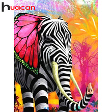 Huacan 5D Diamond Painting Animal Elephant Full Square Round Drill Diamond Embroidery Sale Cross Stitch Mosaic Stitch Drop Ship