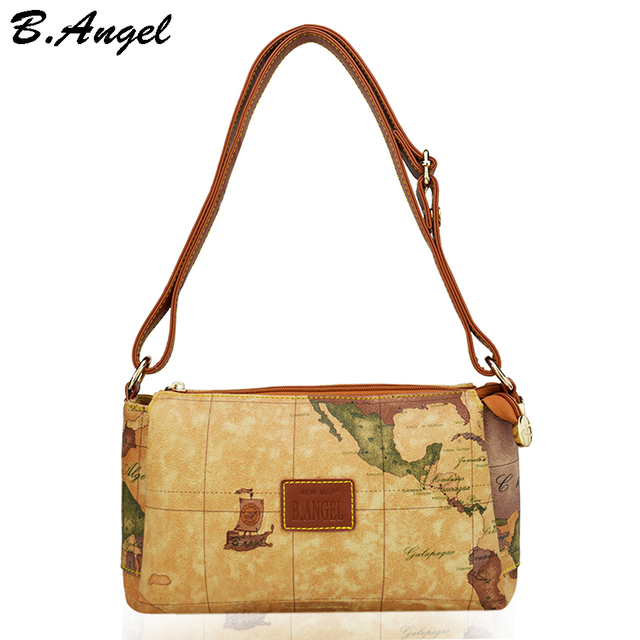 High quality world map women bag fashion women messenger bags high high quality world map women bag fashion women messenger bags high capacity cross body bag brand gumiabroncs Choice Image
