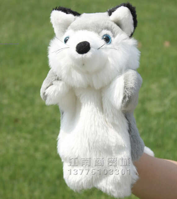 Silver Fox Stuffed Animal, Story Toy 1pc 26cm Cartoon Silver Fox Hand Puppets Plush Sleeping Pacify Educational Game Stuffed Baby Infant Gift Hand Puppet Plush Hand Puppetsfox Puppet Aliexpress