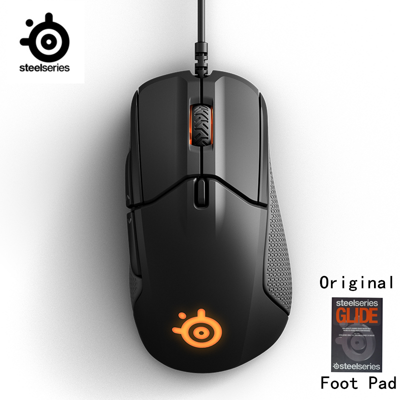 SteelSeries Rival 310 RGB FPS USB Optical Gaming Wired Mouse with 6500 CPI Split-Trigger Buttons CS LOL CF for Windows Linux цена и фото