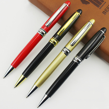 High quality luxury Full metal ballpoint pen 1mm Black Blue ink gel pen Stationery Business office signing pen Supplies Gifts