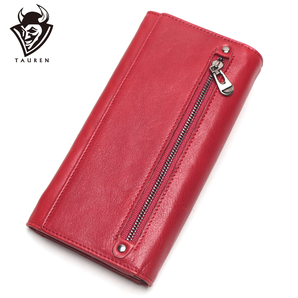Women Purse Genuine Leather Wallet Ladies Cellphone Clutch Bag With High Quality Card Holder Walet Long Zipper Coin Purses