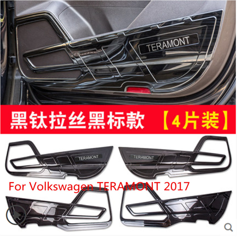 For Volkswagen TERAMONT 2017 stainless steel 4PCS decorative door anti-kick panel decorative car sticker accessoriesFor Volkswagen TERAMONT 2017 stainless steel 4PCS decorative door anti-kick panel decorative car sticker accessories
