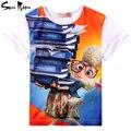 Акция мальчики футболки летние девушки одежду хлопок детская одежда с коротким рукавом тис мультфильм дети 2 - 10 лет