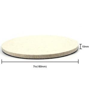 Image 3 - POLIWELL 2PCS 1/2/3/5/6/7 Inch Massaal Wolvilt Polijstschijf slijpen Schuren Disc High density Klittenband Polijsten Pads