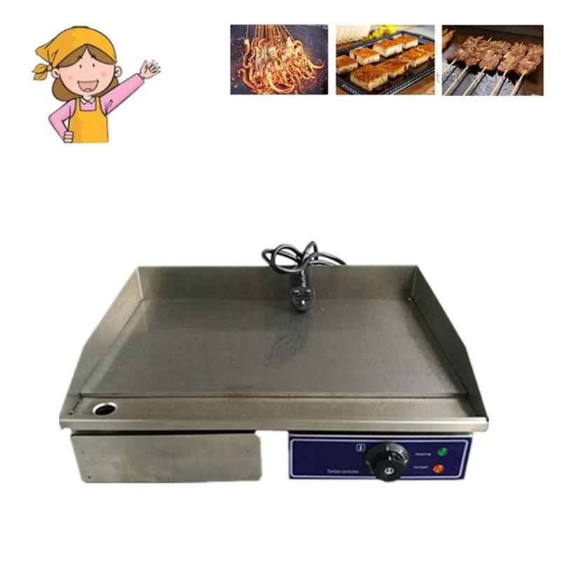 Высокое качество Нержавеющаясталь Пособия по кулинарии прибор плоской сковороде рифленая Электрический гриль жареные для дома коммерчес