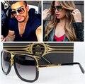 2017 Lente Gradiente Óculos De Sol Dos Homens Das Mulheres Da Marca de Luxo Designer Óculos de Sol Para Homens Mulheres Oculos de sol Feminino Masculino