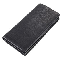 8061A  long large capacity wallet 100% geuine leather black color for gentle man