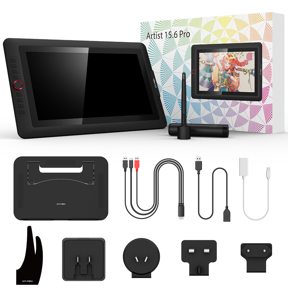 XP-Pen Artist15.6 Pro dessin tablette graphique moniteur numérique tablette Animation planche à dessin avec 60 degrés d'inclinaison fonction Art - 6