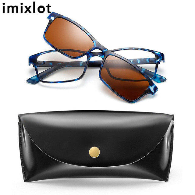 c335597e86 IMIXLOT Men Night Driving Polarized Prescription Sunglasses Magnetic Clip  On Glasses Vintage Goggle Oculos De Sol