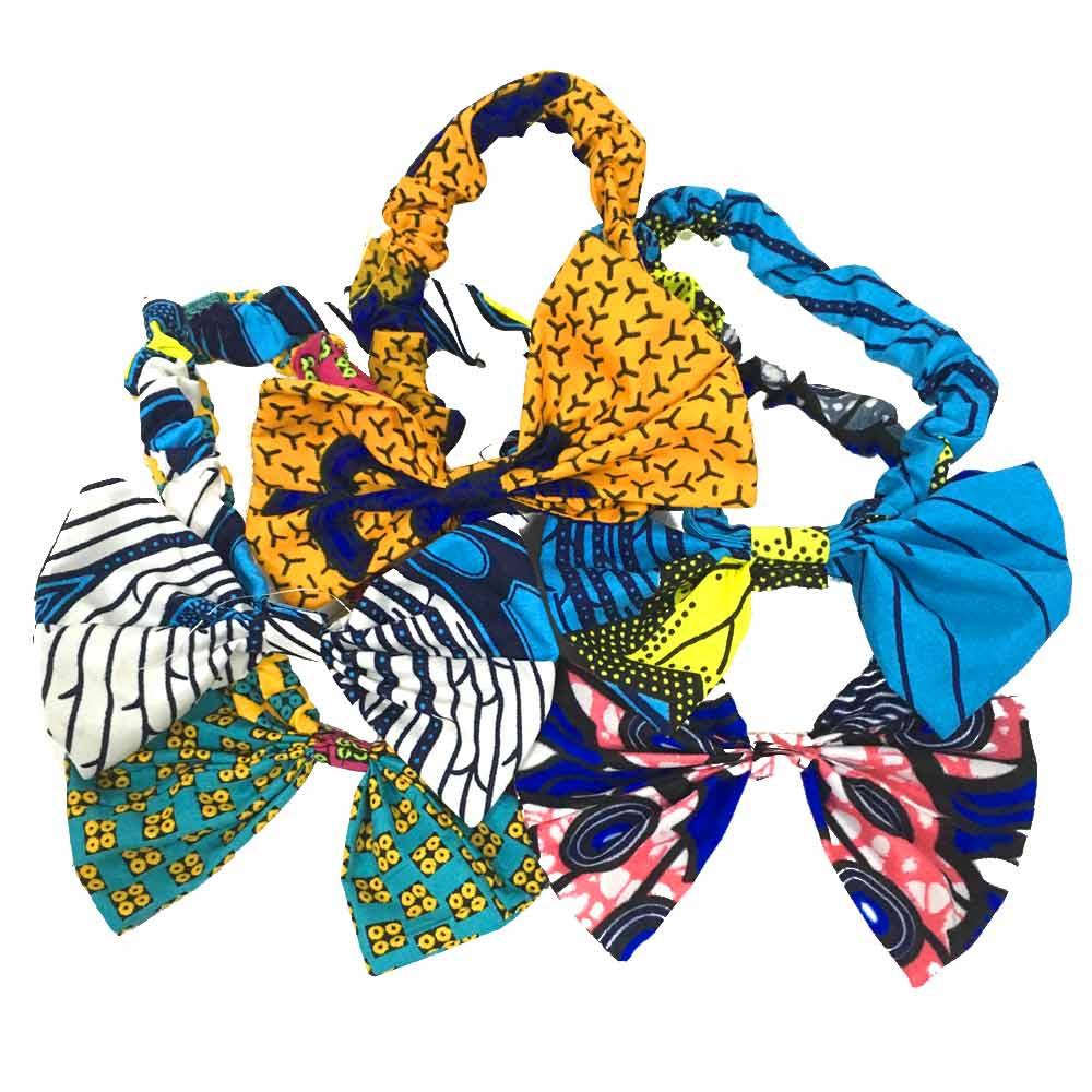Shenbolen African Women Headband Printed Africa Ankara Cotton Headband Hairband Accessories 5pcs/bag