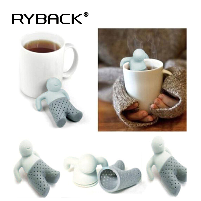 Mr.Tea Bag Silicone Tea Infuser Leaf Straniner Herbal Druice Spice Filter Tea Tools