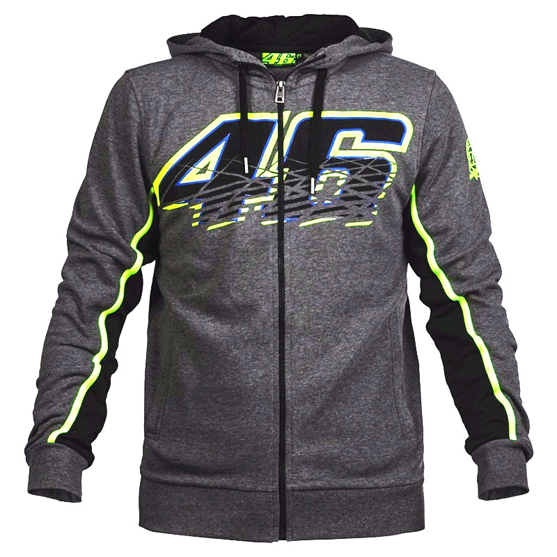 New Cotton MotoGP Valentino Rossi VR46 Hoodies NO 46 Jackets Motocross Motorcycle Racing VR46 casual sweater