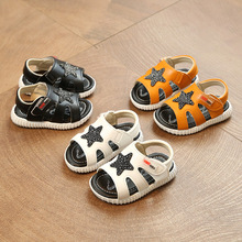 Newest Infant Summer Sandals 2017 Baby Boys Sandals Casual Style Male Children Toddlers Sandals Star Soft Bottom Kids Shoes