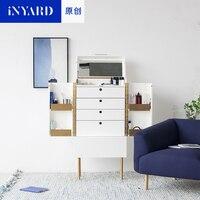 [InYard original] standing cosmetic cabinet / bedside multifunctional storage cabinet mirror Nordic makeup platform