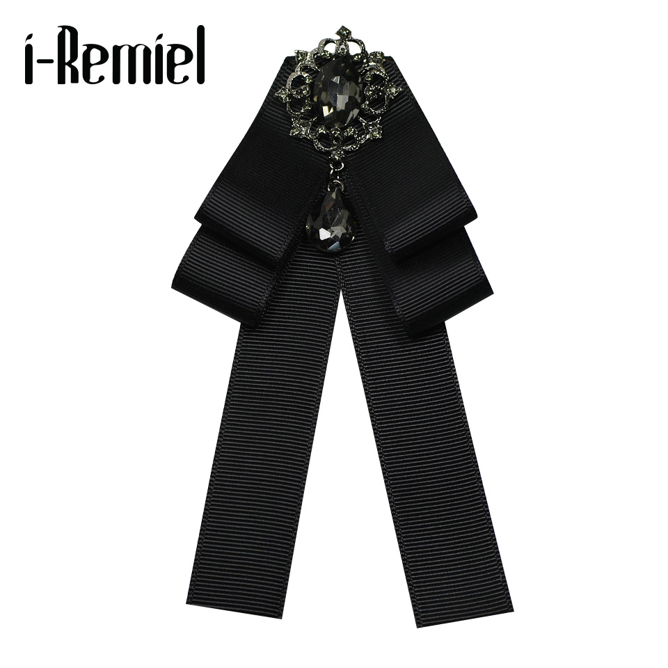 i-Remiel Fashion Bowties Tie Bow Brooch Collar Vintage Pins And Brooches Shirt Collar Accessories Gifts For Guests Broches Women все цены