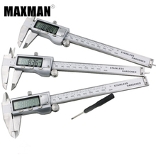 Sale MAXMAN 0-150mm MM/INCH All Stainless Steel High Precision Electronic Digital Vernier Caliper 150MM Measuring & Gauging Tools