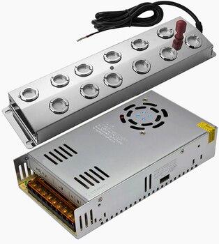 Humidificador de aire ultrasónico de 12 cabezales y potencia, purificador de aire ultrasónico de nebulizador ultrasónico de 6 KG/H