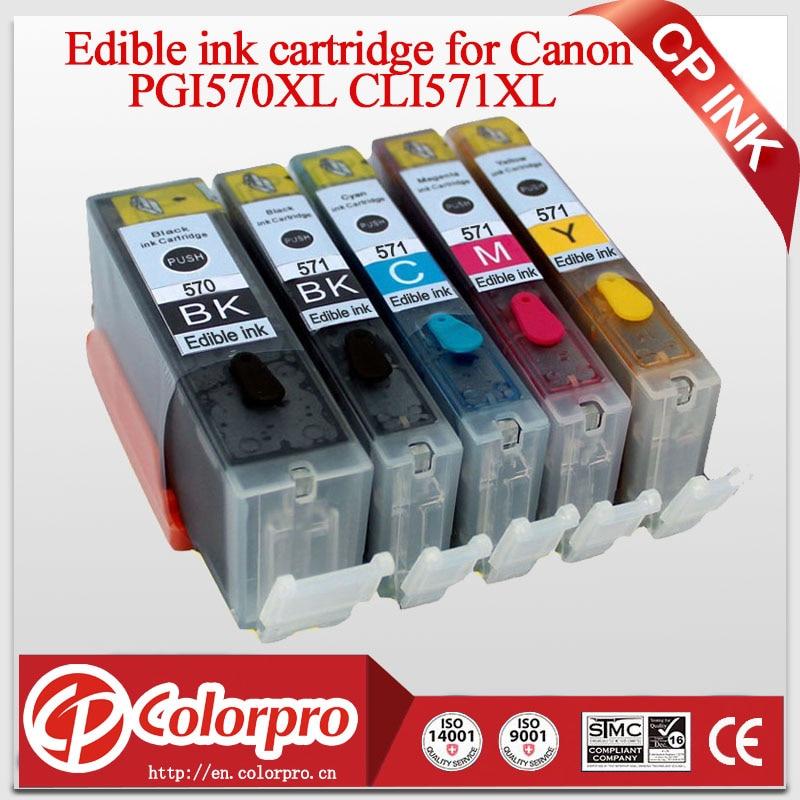 Cartouche d'encre comestible PGI570 CLI571 pour Canon Pixma MG5700 MG5750 MG5751