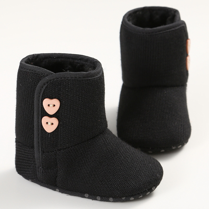 Baby Girl Newborn Knitted  Warm Ankkle Snow Boots Toddler Infant Shoes Booties