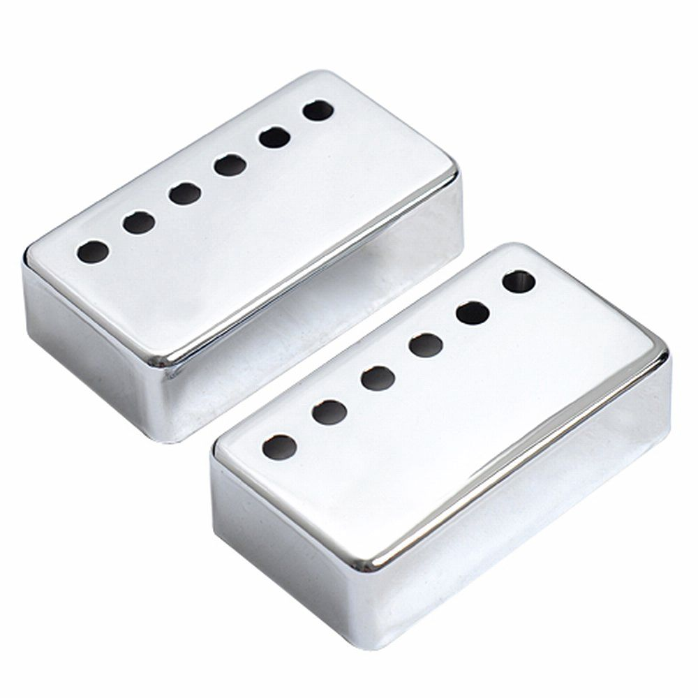 SEWS-2x Humbucker Neck & Bridge Guitar Pickup Covers Chrome High Quality kmise electric guitar pickups humbucker double coil pickup bridge neck set guitar parts accessories black with chrome gold frame