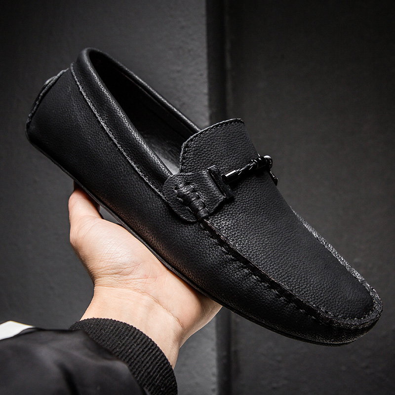 2019 New Shoes Men Loafers Leather Moccasin Style Footwear Slip On Flat Driving Boat Shoes Classical Male Gommino Zapatos 38-49