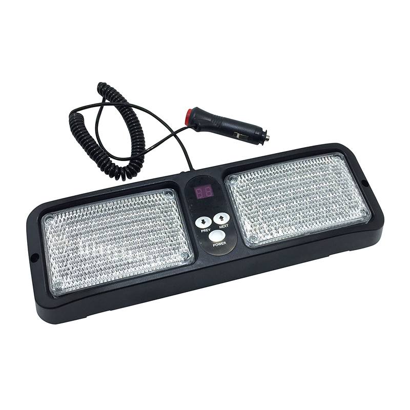 DC12V LED Sun Visor Panel Car Truck Warning Light Strobe Flashing Beacon Emergency Lights Fog Police Fireman Lamp