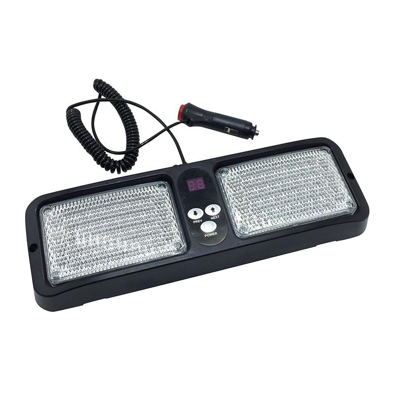 DC12V LED Sun Visor Panel Car Truck Warning Light Strobe Flashing Beacon Emergency Lights Fog Police Fireman Lamp
