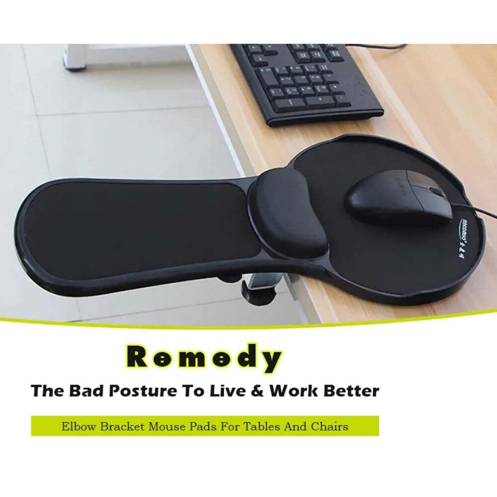 Tapis de souris amovible avec repose-poignet ordinateur bureau tapis de souris avec Support de poignet Gel pour ordinateur tapis de souris de jeu avec accoudoir - 2