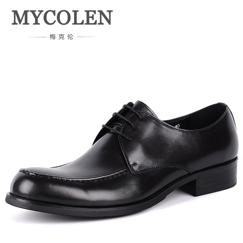 MYCOLEN New Design Top Real Full Grain Leather Mens Formal Business Round Toe Shoe Men Dress Breathable Shoes Zapatos De Vestir top italian style real full grain leather qshoes shoe mens business men man dress casual fashion pointed toe shoes yo8538 128