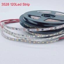 5 m الأبيض/الدافئة الأبيض/الأزرق/الأخضر/الأحمر/الأصفر 120 المصابيح/m SMD3528 5 مللي متر/8 مللي متر pcb مرنة LED شريط إضاءة طويل ضوء ، DC12V 600 المصابيح