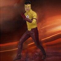 Flash niños Cosplay El Flash Temporada 3 Wally West Ropa Cosplay Traje de Superhéroe Traje de Halloween para Los Hombres Por Encargo