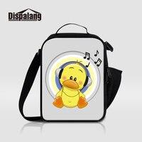Dispalang Neue Mode Tragbaren Mittagessen Taschen Für Kinder Thermische Isolierte Kühltasche Für Studenten Cartoon Musiknote Druck Lunchbox