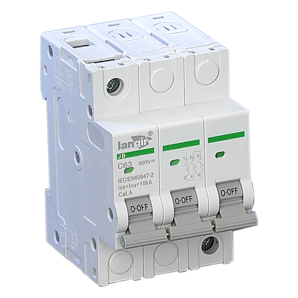 где купить LANGIR 3 Pole Din Rail Non Polarized Mini Circuit Breaker Switch For DC And Solar Generation C Curve With TUV Certificates дешево