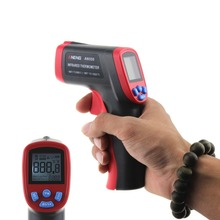Non-Contact Laser LCD Display IR Infrared Digital C/F Selection Surface Temperature Adjustable Emissivity Infrared  Thermometer