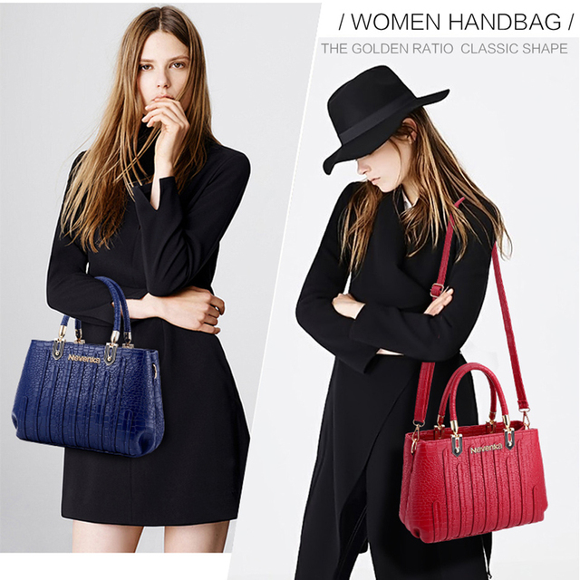 Nevenka Fashion Women Bag Composite Bag Brand Tote Ladies Evening Handbag Shoulder Bags Solid Pu Leather Messenger Bags Sac