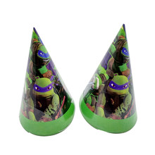 6pcs/lot Kids Boys Favors Decoration Happy Birthday Party Ninja Turtles Theme Paperboard Caps Baby Shower Hats Events Supplies(China)