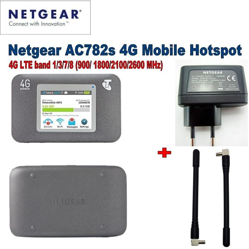 Lot of 10pcs Unlocked Netgear Aircard 782S AC782S Mobile Hotspot CAT4 Wifi Router 4G LTE plus 2pcs 4g antenna цена