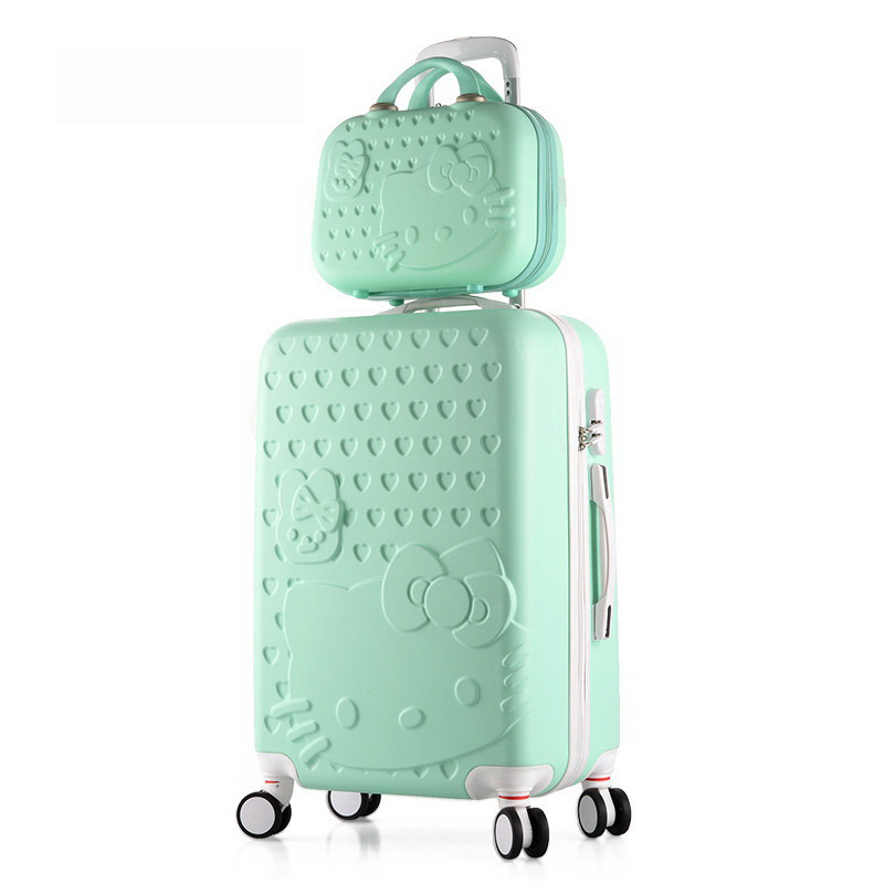 24inch sets High quality Trolley suitcase luggage traveller case box Pull Rod trunk rolling spinner wheels ABS+PC boarding bag 20 24 inch braccialini harajuku fairy girl trolley suitcase rolling spinner wheels pull rod luggage traveller case boarding bag