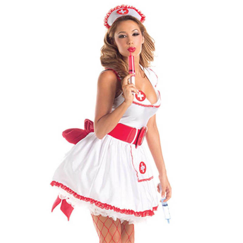 Sexy Nurse Halloween Costume For Women Role Play Naughty Fancy Dress Uniform Cosplay Carnaval Costumes Party Medical Clothing