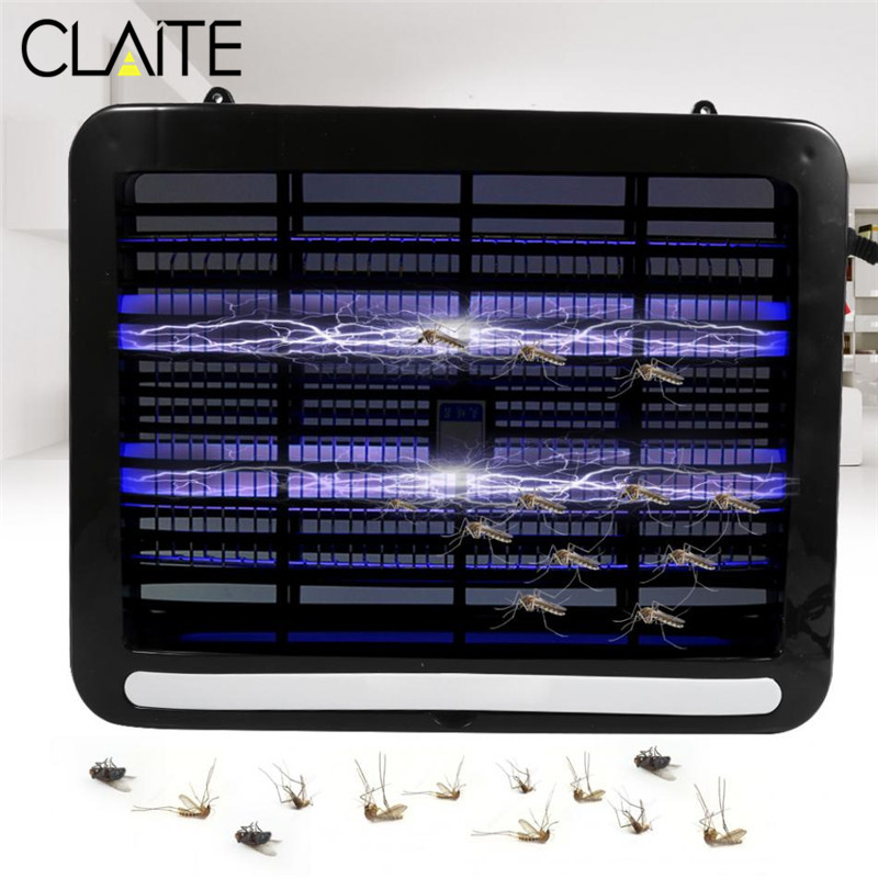 CLAITE 8W Outdoor LED Mosquito Repellent Trap Lamp Electric Shock Insect Zapper Pest Mosquito Energy-saving Killer Lamp ledgle 3w mosquito repellent lamp effective physical insect killer mosquito trap and killer black