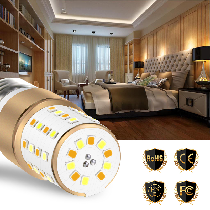E27 Led Bulb Corn Lamp E14 Light Bulb 3W 5W 7W Ampul 2835 SMD No Filcker 3 Color Temperature Integrated Led Candle Light 85 265V in LED Bulbs Tubes from Lights Lighting