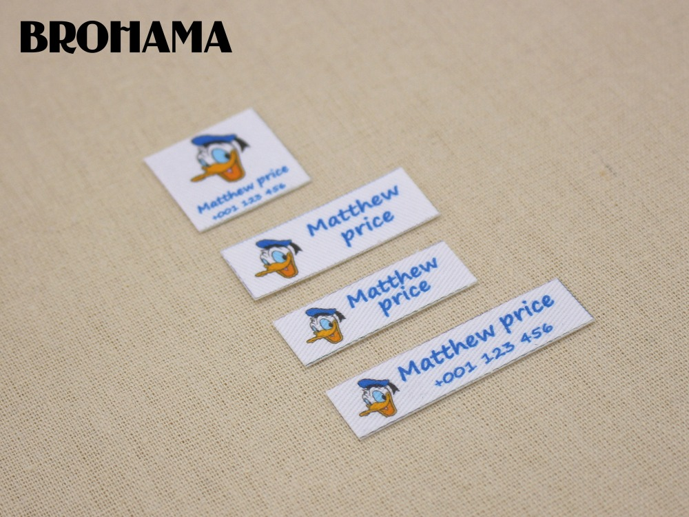 Custom name label, childrens clothing label, ironing label, boy and girl tag, Donald Duck label (L94)