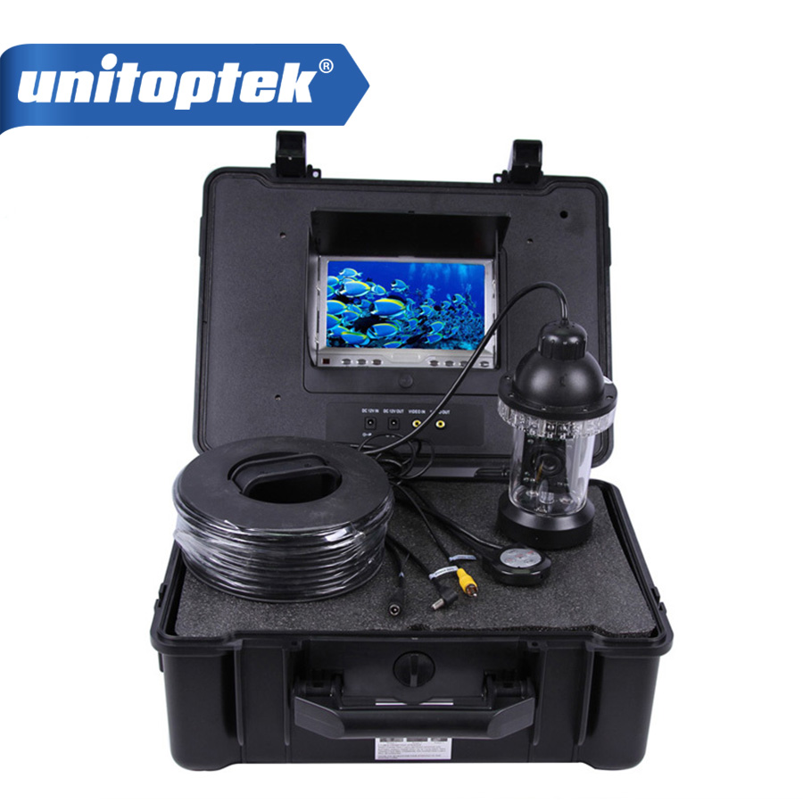 HD CCTV Underwater 7 inch TFT Screen Pan Tilt SONY 650TVL fishing Camera Night Vision 20M Cable Rotate At 360 Degree Fish Finder