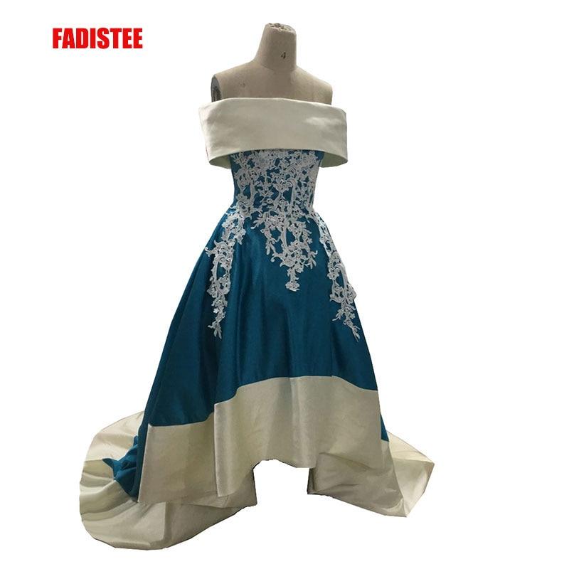 FADISTEE New arrival elegant party   dress     evening     dresses   Vestido de Festa luxury appliques lace high-low boat neck long prom