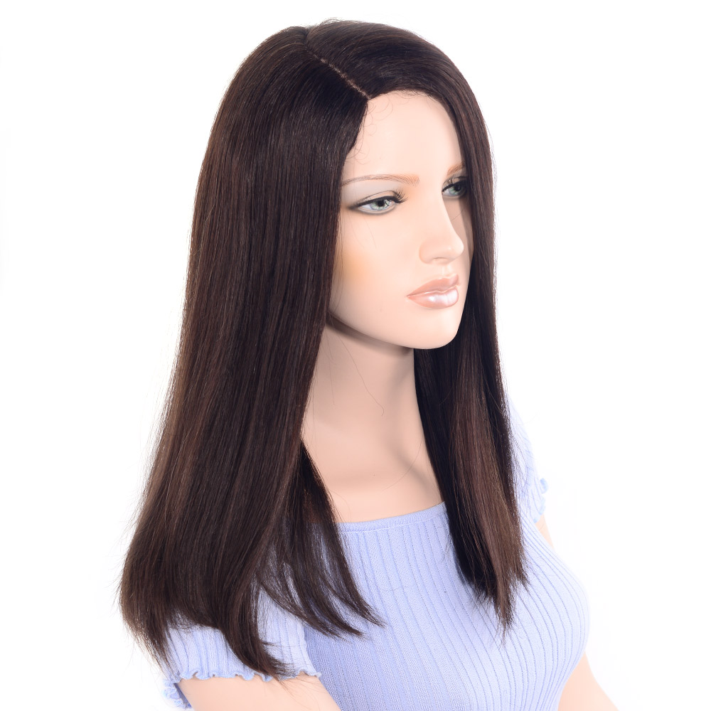 LADYSTAR 100% Remy Human Hair Wigs 150% Density Straight Wig by Part Hand Made For Women 16 inch Fast Free Shipping