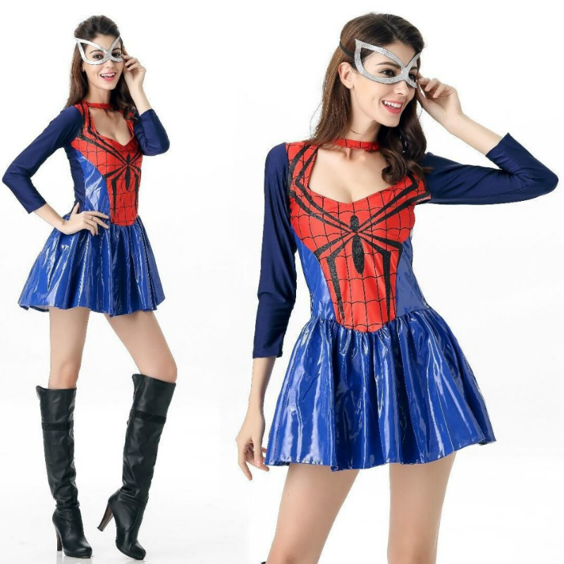 2018 New Halloween Costumes for Woman Fantasia Disfraces Spider-Man Costume Spider-Man Cosplay game uniforms