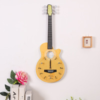 Guitar Shaped Wall Clock Creative Wall Watch Glass Dial Mute Hanging Watches Home Decoration Accessories Modern