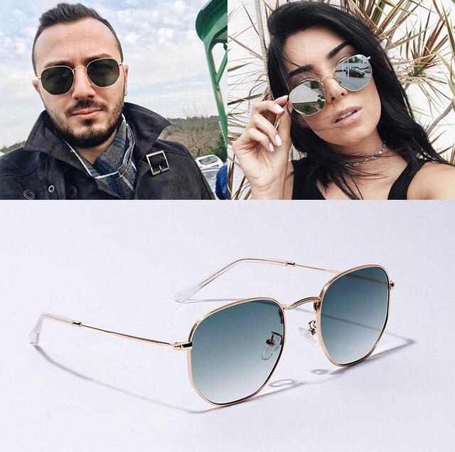 62ccc7a722dfa9 JackJad 2019 Mode Polygone Cadre Rond En Métal 3548 Style lunettes de Soleil  Vintage Classique Brand